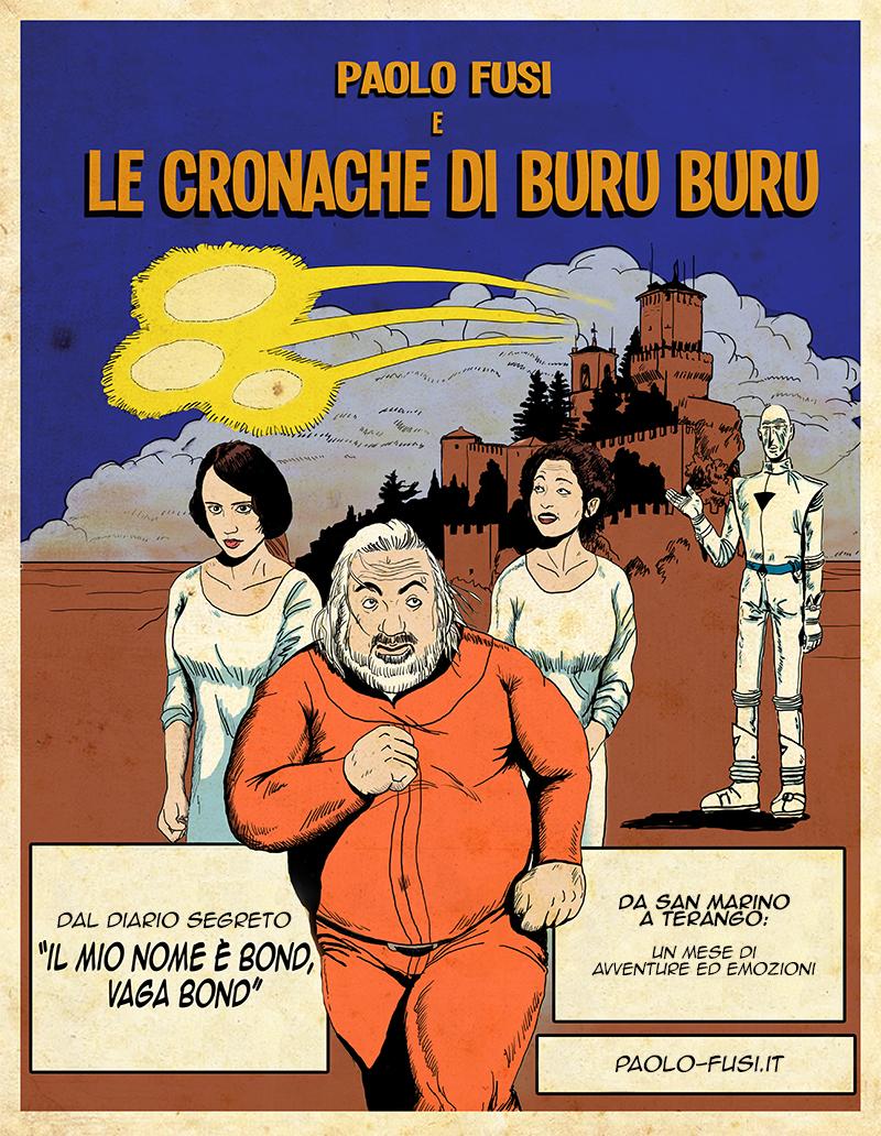Locandina spettacolo Cronache di Buru Buru